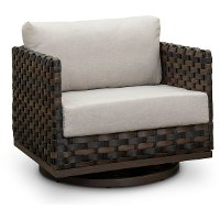 Wicker Patio Motion Chair with Sunbrella Cushion - Nevis
