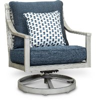 Weathered Gray Patio Swivel Chair - Rockport