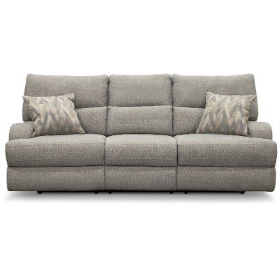 Archie Shark Gray Power Reclining Sofa - Brindle