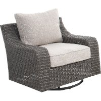 Woven Swivel Patio Chair - Lemans