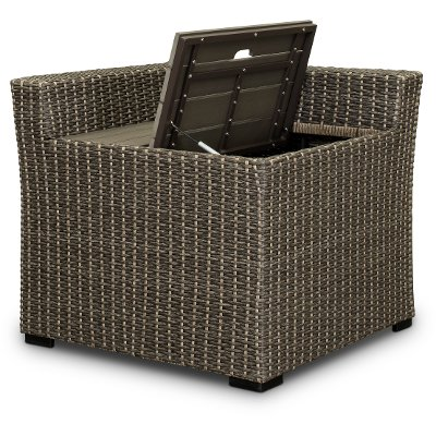 Modular Wicker Patio Sectional Corner with Storage - Tahoe