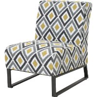 16C117A-M/GREY/ACCCH Diamond Pattern Patio Accent Chair - Tahoe