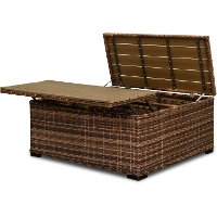 FB88W54206/COCKTAIL Wicker Patio Cocktail Table with Storage - Tortola