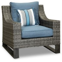 17C262AW/STHPRT/CH Wicker Woven Patio Chair - Southport