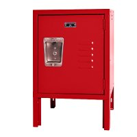 Red Metal Mini Kids Locker