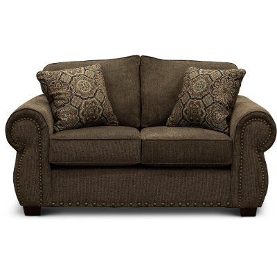 Casual Traditional Coffee Brown Loveseat - Southport