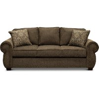 Casual Traditional Coffee Brown Sofa Bed - Southport