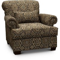Casual Traditional Brown Accent Chair - Southport
