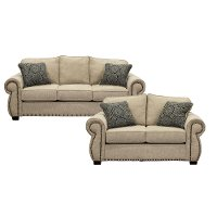 Traditional Canvas Tan 2-Piece Living Room Set - Southport