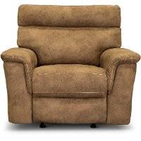Traditional Taupe Glider Recliner - Maci