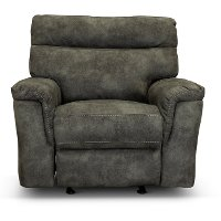 Traditional Gray Glider Recliner - Maci