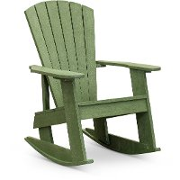 Green Outdoor Patio Rocking Adirondack Chair - Captiva