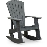 Gray Outdoor Patio Rocking Adirondack Chair - Captiva