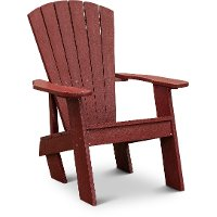 Bordeaux Red Outdoor Patio Adirondack Chair - Captiva