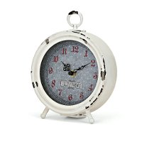 Distressed White Desk Clock - Berry Patch