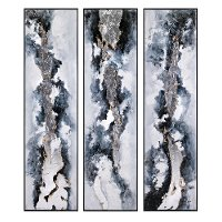 Assorted White, Gray and Black Framed Wall Oil Painting