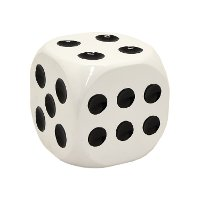 White and Black Dice Tabletop Decor