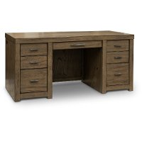 Greystone Modern Executive Desk - Modern Loft