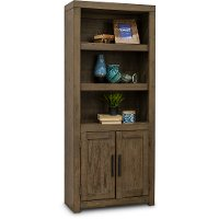 Greystone Modern Bookcase with Doors - Modern Loft