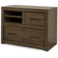Greystone Combo File Cabinet with Open Store - Modern Loft