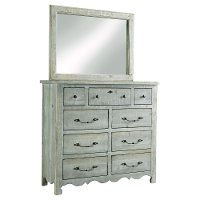 Traditional Farmhouse Mint Pine Dresser - Chatsworth