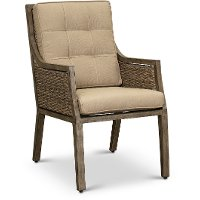 Sunbrella Patio Wicker Dining Chair - Danbury