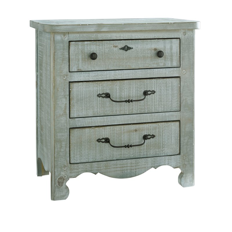 Traditional Farmhouse Mint Pine Nightstand Chatsworth Rc Willey Furniture