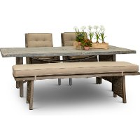 Sunbrella 4 Piece Patio Barnwood Dining Set - Danbury