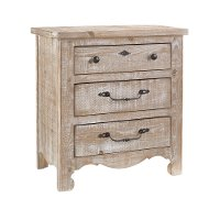 Traditional Farmhouse Chalk Pine Nightstand - Chatsworth