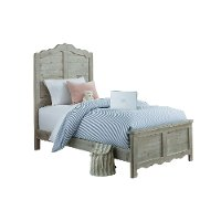 Traditional Farmhouse Mint Pine Twin Bed - Chatsworth