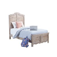 Traditional Farmhouse Chalk Pine Twin Bed - Chatsworth