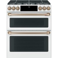 C2S950P4MW2 Cafe Dual-Fuel Double Oven Range - 7.0 cu. ft. White