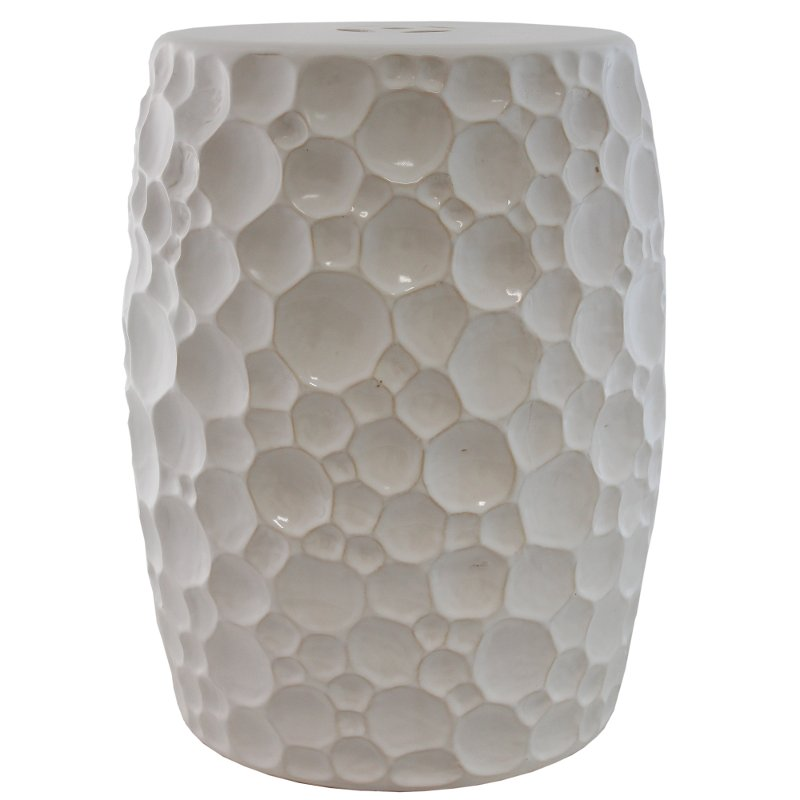 18 inch white ceramic stool rcwilley image1~800