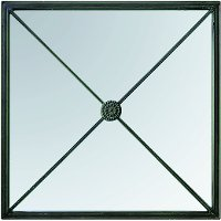 18 Inch Iron and Glass Wall Mirror