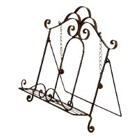 13 Inch Wrought Iron Avignon Book Stand