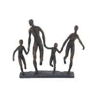 Family of Four Holding Hands Sculpture