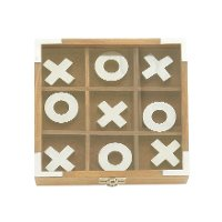 Wooden Tic Tac Toe Game With X's and O's