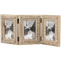 Wooden Folding Picture Frame with Beaded Detailing