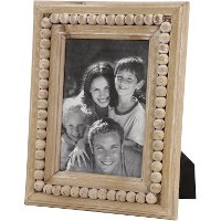 Wooden Picture Frame with Beaded Detail