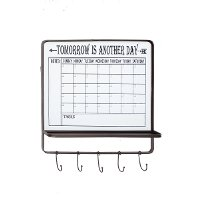 Metal Wall Calendar Sign with Hooks