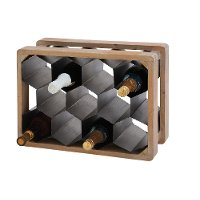 Wood and Metal Wine Bottle Holder