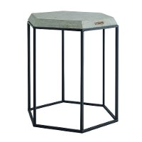 Magnolia Home Furniture Black Hexagon Table with Cement Top