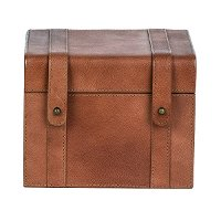 Magnolia Home Furniture 6 Inch Saddle Leather Recipe Box