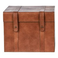 Magnolia Home Furniture 10 Inch Saddle Leather Recipe Box