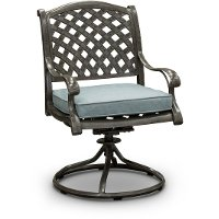 Gray Metal Swivel Rocking Patio Chair Macan Rc Willey Furniture Store