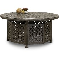 Gray Metal Round Patio Fire Pit - Macan