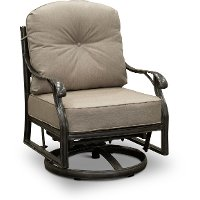 High Back Patio Dining Swivel Rocker - Macan