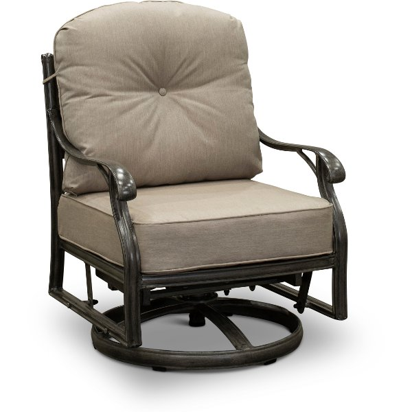 Patio Dining Swivel Rocker With Cushion Macan