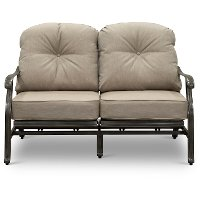 Gray High Back Patio Motion Love Seat - Macan