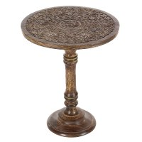 Wooden Carved Traditional Accent Table